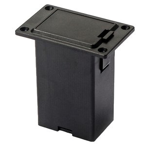 Cheap Battery Storage Boxes New 1pc 9V Battery Black Holder Case Box Compartment Cover Guitar Bass Pickup