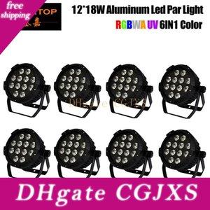 8 팩 주도 무대 조명 극상의 Tp를 -P110b Rgbwy UV (6)에서 하나 IP20 LED 파 Light 미사용 12 * 18w 알루미늄 평면 LED 파 라이트 없음 소음을 Freeshipping