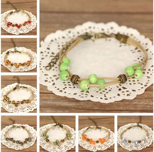 DHL epacket Round bead ceramic beaded bracelet simple small jewelry hot girlfriends DJFB515 Charm Bracelets jewelry