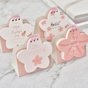 2019 Pink Cherry Blossom Shape Calendar Cartoon Cute Small Calendar Timetable Plan Notebook Creative Desktop Desk