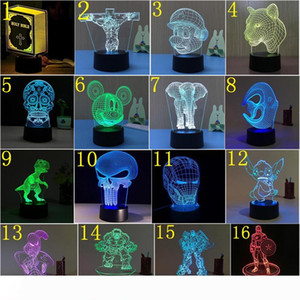 3D LED Night Light USB 7 Color Touch Switch 3d optical illusion lamp Novelty 3D Acrylic Table Lamp 176 Pattern Optional