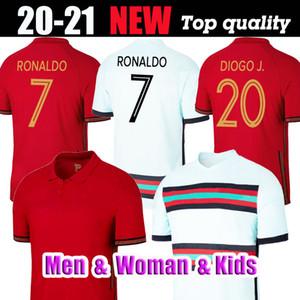 Thaïlande Portuga RONALDO FELIX 2020 2021 de football JOAO GUERREIRO DIAS 20 21 Portuga GUEDES Camisa de futebol hommes CARVALHO enfant Maillo