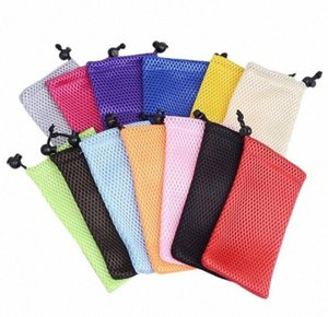 1000pcs Men Women Fashion Portable Waterproof Cloth Solid Color Glasses Case Mesh Plaid Sunglasses Bag Pouch Travel Accessortes 3pb6#