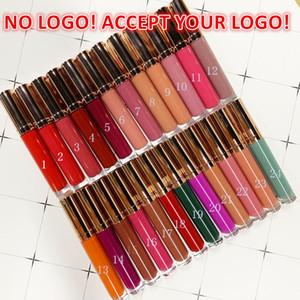 No LOGO!24 Colors matte lip gloss waterproof liquid lipstick customized logo long Lasting matte lipstick