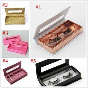 Wholesale Bling Glitter False Eyelash Packaging Box Fake 3d Mink Eyelashes Boxes Magnetic Black Rose Gold Case Lashes Empty Box
