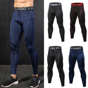 Calças homens Sportswear Vestuário camada Gym Compression Base de calças compridas Calças Leggings Runing Trainning Exercício