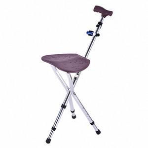 Sıcak Yeni Ayarlanabilir Baston Katlama Cane Koltuk Yürüyüş Ve Kamp Kamp Yürüyüş Kalın Alüminyum Alaşım Dışkı Crutch Sandalye Koltuk 3 2A6n #