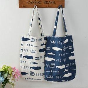 Big Canvas Shopping Kopf Wal Wen Yifan Hand Segeltuchschultertuch Blumenbaumwollleinenfrauenbeutel-Einkaufstasche