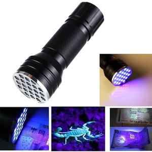 395nm 21LED ultraviolette Taschenlampe Licht-Lampe Mini UV-Blitz-Licht für Schwarzlicht Invisible Erkennung Finder CYZ2545 200Pcs