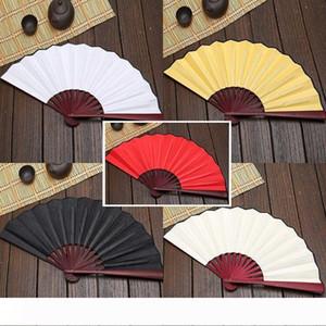 Large 33cm Folding Fan Blank Cloth Bamboo Hand Fans DIY Craft Art Painting Fan Gifts wen6896