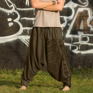 남성 힙합 스트리트 롱 캐주얼 인쇄 느슨한 바지 큰 크기의 국적 바지는 바지를 조깅 pantalon 아저씨 남성 #의 G2를 하렘