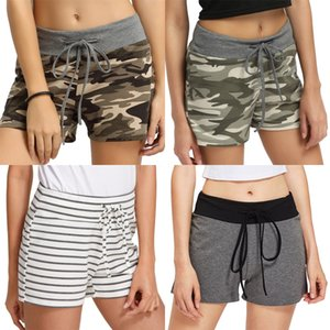 Women Striped Printed Shorts Fashion Ladies Loose Thin Cotton Casual Shorts Female Summer Hot Pants With Belt#8121