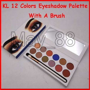 2019 Christmas KL Brand 12 Colors Eyeshadow Palette Eye Make up Shimmer with a makeup brush free shipping