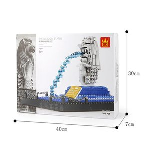 MERLION STATUE-Singapore building block model assembly toy for child 04