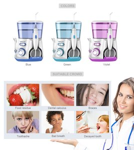 WaterPulse V300G Irrigador oral 5pcs Tips Dorsals Waters Flossers Electric Cleaner 800ml Orals Higiene Dental Flosser Water Flossing