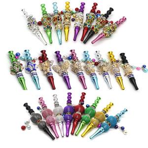 vente en gros forme d'animaux colorés conseils narguilé métal support émoussé avec strass narguilé chicha embout buccal Conseils pour Fumeurs DHB710