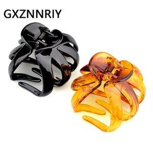 8cm Big Hair Claw Clip for Women Accessories Black Crab Brown Clips Hairclip Hairpins Clamp Plastic Fashion Lady Headwear