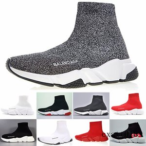 Sneakers Speed Trainer Black Red Gypsophila Triple Black Fashion Flat Sock Boots Casual Shoes Speed Trainer Runner With Dust Bag H3B6T