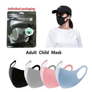 Máscara de cara reutilizable cubierta de la boca a prueba de polvo a prueba de polvo protector adultos para niños Máscara de tamaño anti-bacteriano Algodón de seda de seda con máscaras anti-polvo 800pcs