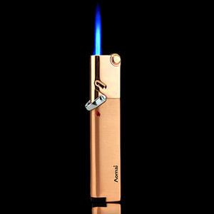 Compacta Jet ligero de gas de la antorcha Turbo encendedor a prueba de viento de Gaza todo el metal puro encendedor de butano 1300 C Fasion para el hombre