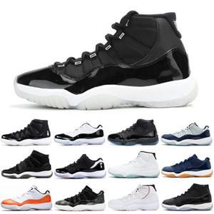 25º aniversário 11 11s Jumpman baixo brancos produzidos tênis de basquete prata metálica Heiress Space Jam homens mulheres formadores sneakers 5,5-13