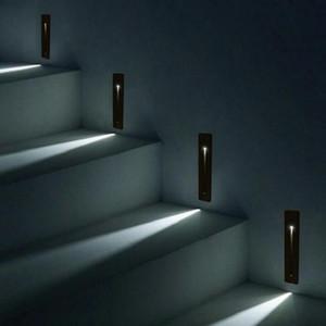 aydınlatma Gömme 3W LED Merdiven Işık Dikdörtgen AC100-240V Kapalı led duvar Duvar lambası Merdiven Basamak merdiven Koridor merdiven lambası