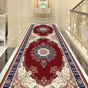 동남 아시아 스타일 꽃 거실 카펫 벨벳 소프트 부엌 바닥 매트 침대 옆 발코니 면적 카펫