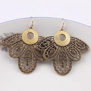 Anti Gold Plated Hollow Butterfly Cicada Metallic Classic Dangle Drop Earrings for Women Zinc Alloy Metal Filligree Earrings