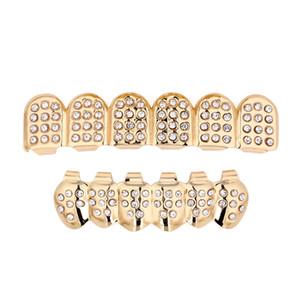 Hip Hop Zähne Grillz Mode Top Bottom Faux Dental Zahn Zahnspangen Grills Gold Silber Überzogene Zähne Klammer Für Frauen Rapper Körper Schmuck Geschenk