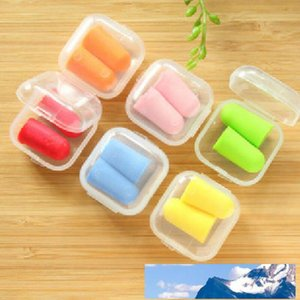 New Bullet Shape Foam Sponge Earplug Ear Plug Keeper Protector Travel Portable Sleep Noise Reducer LX3865