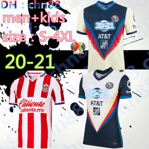 حجم: قميص S-4XL 2020 2021 LIGA MX كلوب أمريكا لكرة القدم جيرسي غوادالاخارا تشيفاس الرجال الأطفال 20 21 المكسيك GIOVANI R.SAMBUEZA O.PERALTA كرة القدم