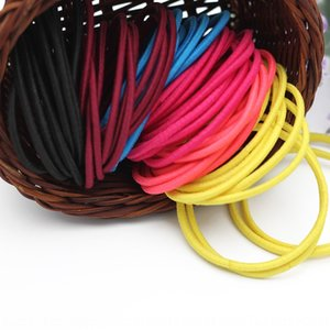 4mm high elasticity nylon diy hair rope accessories basic Diy rubber band seamless rubber band children