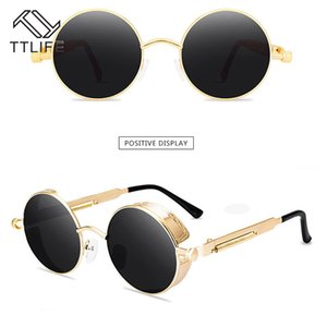TTLIFE 2020 Vintage Sunglasses Round Metal Frame Steam Punk Women Sunglasses Ocean Lens UV Protection Eyeglasses Gafas De Sol