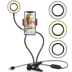 أفضل الأعلى الصور الشخصية للحلقة الضوء مع حامل حامل الهاتف الخليوي لايف ستريم / ماكياج، UBeesize LED إضاءة الكاميرا acc017