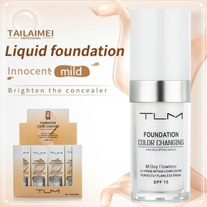 TLM Flawless Color Changing Foundation Warm Skin Tone Colour Face Makeup Base Nude Facial Moisturizing Liquid Cover Concealer
