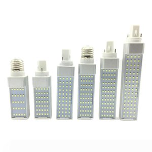 G24 E27 Bombillas LED 7W 9W 11W 13W 15W LED bulbo del maíz de la lámpara SMD 2835 Spotlight 180 grados AC85-265V Horizontal Plug Luz