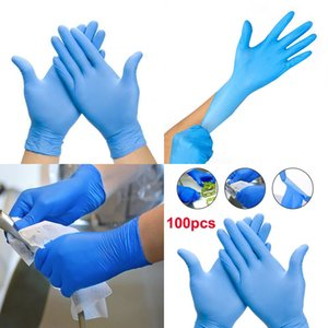 Home Glove Disposable Nitrile Cleaning 100pcs Hand Protect Waterproof Kitchen Gloves Home Cleaning Tools for Left and Right Hand