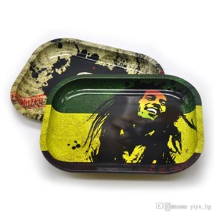 Bob Marley Metal Rolling Tray 18*14*1.5cm Herb Tobacco Tinplate Rolling Tray Hand Roller Cigarettes Holder Smoke Tools Smoking Accessories