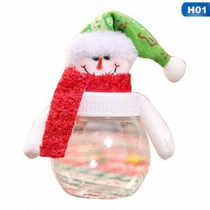 С Рождеством Candy Jar Дети подарка Xmas Jar Санта-Клаус снеговика Elk ткань Art Candy Box Рождеством Navidad Box FyIg #