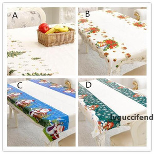 New Festive Merry Christmas Rectangular Tablecloth Kitchen Dining Table Covers Christmas Decorations for Home Natal Noel New Year Decoration