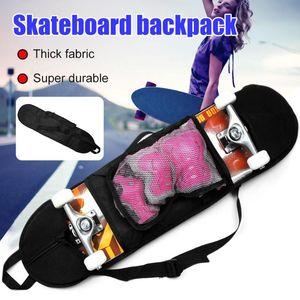 Portable Skateboarding Skateboard Cover Skateboard Shoulder Carrier Adjustable Strap with a Mesh Pouch Carry Bag