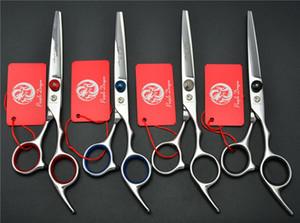 """6.0"""" 17.5cm Japon Purple Dragon Human Hair Scissors Animaux professionnels Ciseaux de coiffure Toilettage Ciseaux de coupe Ciseaux Z4001"""