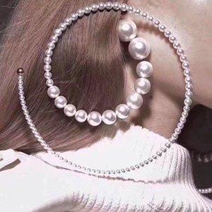 women pearl earrings retro catwalk pearl earrings fashion jewelry round temperament eardrop female accessories BRW Party queen ear pendants
