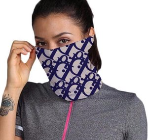 Outdoor Bicycle Cycling Face Masks Bandanas Designer Scarf Headband Neckerchief Single shoulder bag Purse Head Scarves Half Face Mask