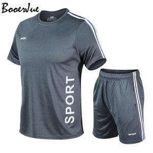 Tracksuit Summer Sets Fashion Men's Fitness Shorts Sweat Suit Two-piece Set Outfit Jogger Suits for Men T200709