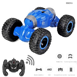 JJRC Q70 RC Car 2.4Ghz 1:16 RC Stunt Car 4WD 15km h Double-sided Fip Deformation Climbing RC Monster Rock Crawler Y200317