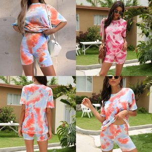 2020 Dener Yoga Suit Suit And America Female Cross Beauty Back Shirt Quick-Drying Tights Women Two-Piece Suit#594