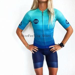 2020 2020 Mujer Triathlon la bici skinsuit verano de manga corta traje de baño de encargo Bodies triatlón Traje brillante del color del mono 1QFZ #