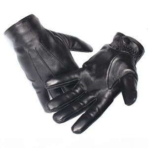 K Gours Winter Gloves Men Genuine Leather Gloves Touch Screen Real Sheepskin Black Warm Driving Gloves Mittens New Arrival Gsm050 T1906