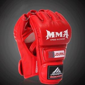 Jiuduanlong SD333 إعصار نصف إصبع الرمل MMA وقفازات نصف الاصبع ساندا الملاكمة قفازات القتال
